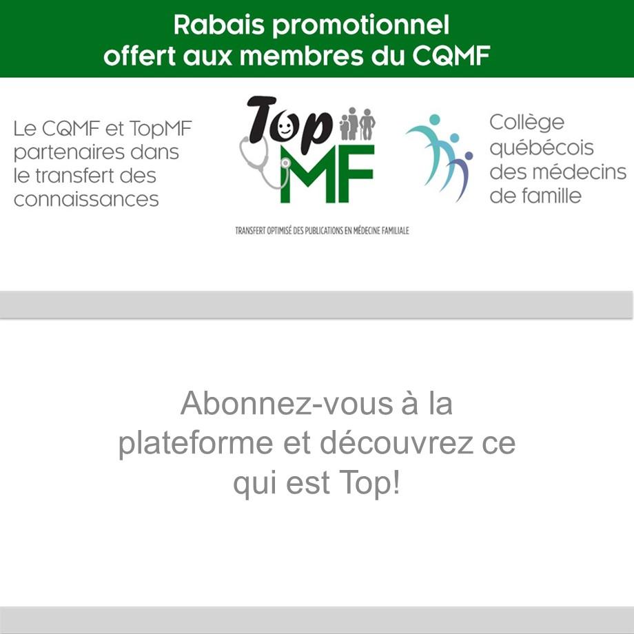 Le CQMF et TopMF partenaires!