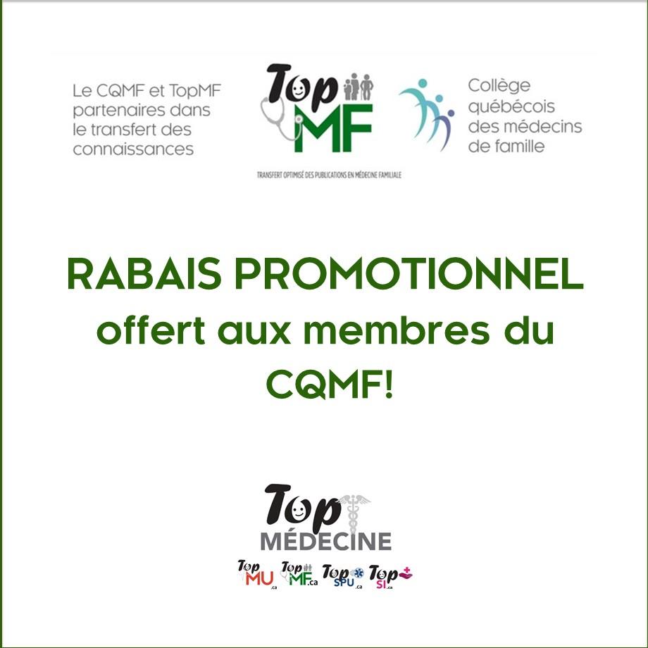 Le CQMF et TopMF partenaires