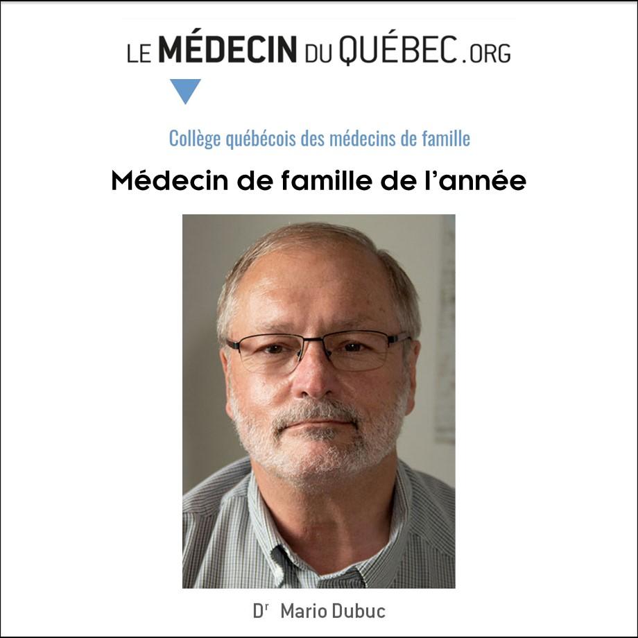 PRIX DU MÉDECIN DE FAMILLE DE L'ANNÉE ET AUTRES DISTINCTIONS