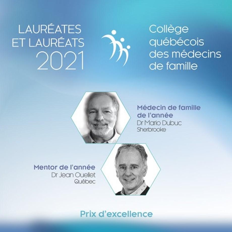 Médecin de famille de l'année :<br/>Le CQMF dévoile ses lauréates et lauréats 2021